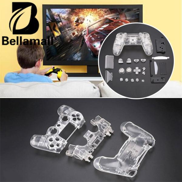 Bellamall:Full Housing Cover Button Key Kit Replacement For PS4 Wireless Controller Clear