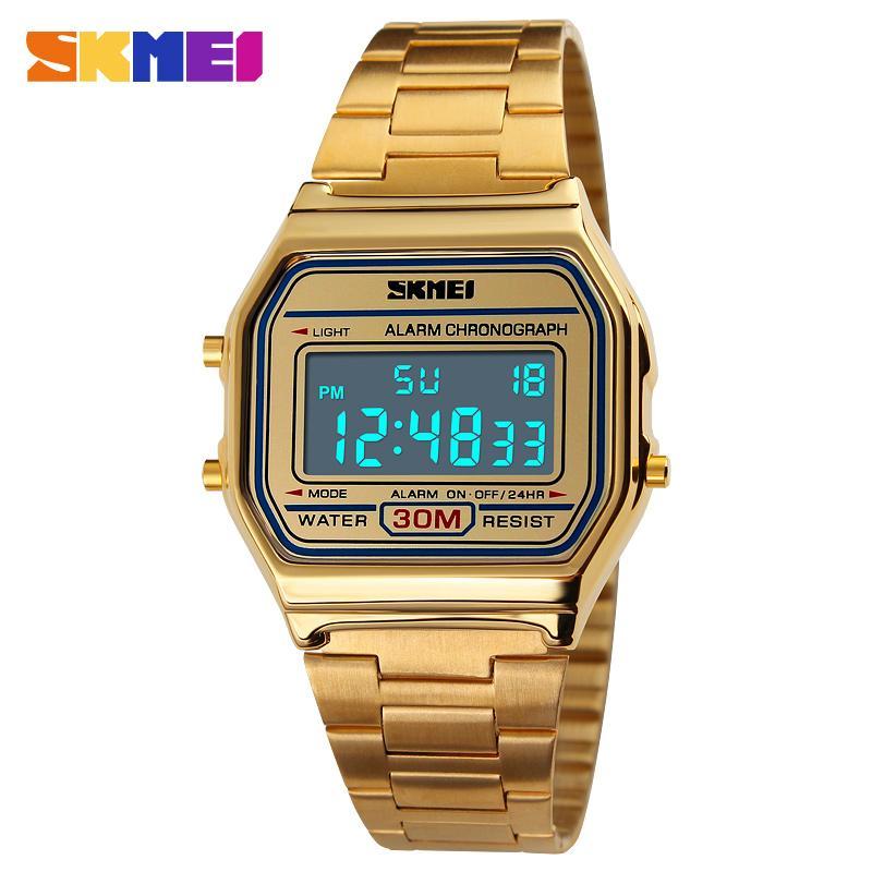 dd48923fee6c SKMEI LED Digital Sports High-grade Stainless Steel Waterproof Watch 1123