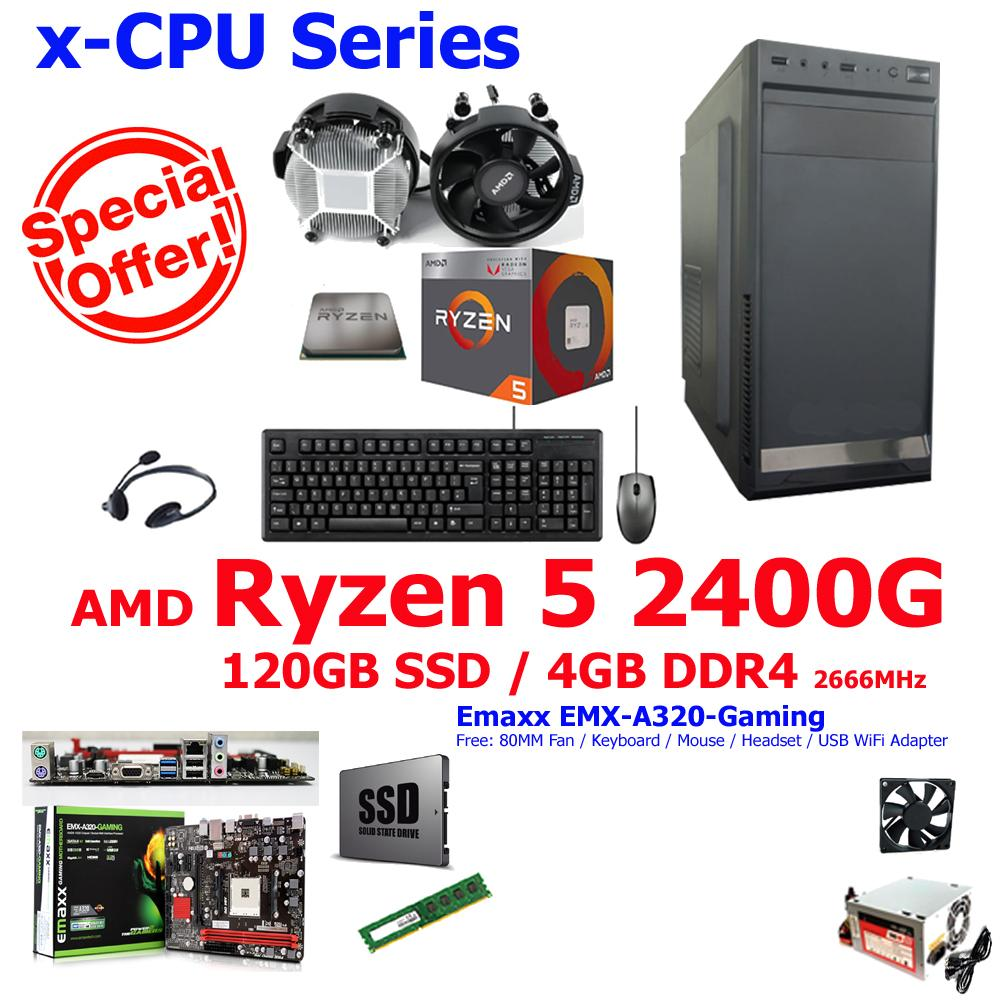 Amd Philippines Price List Processor Desktop For Sale Lazada Ryzen 5 2400g With Radeon Rx Vega 11 Graphics X Cpu A320 120ssd 4gb 4 Core 36