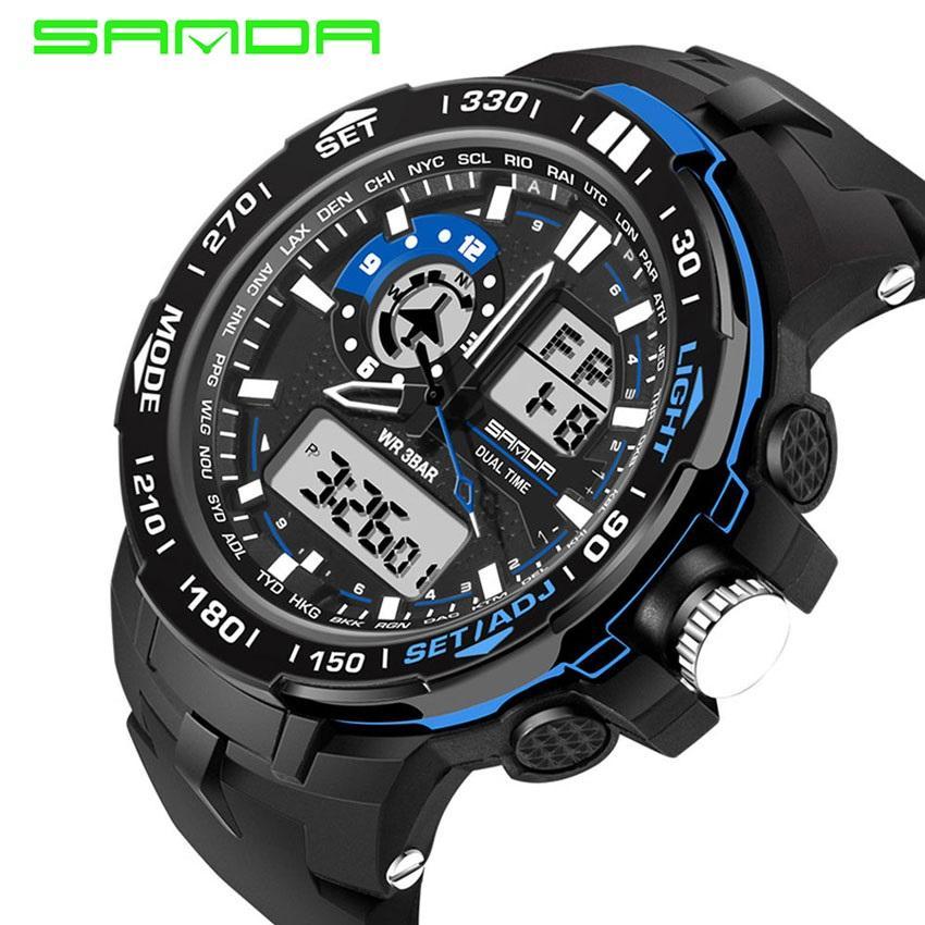 eabb511761d 2019 High Quality SANDA 737 Men s Fashion Outdoor Sports Waterproof  Noctilucent Watch(gold