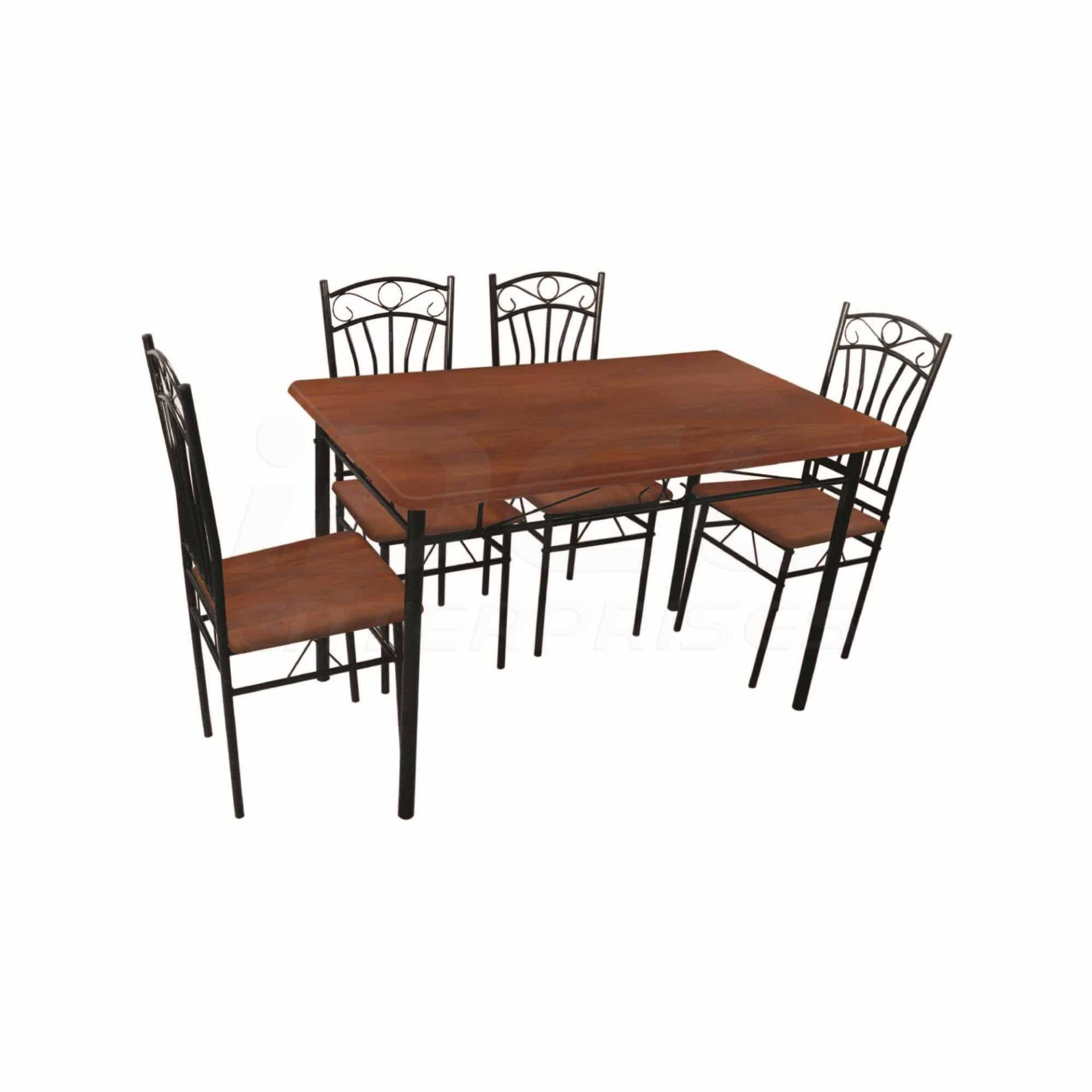 Tailee DS 022 4 Seater Dining Set (Coffee)