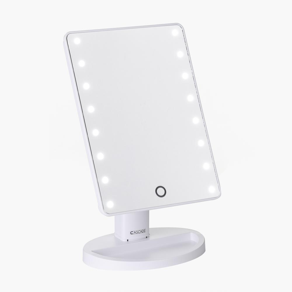 Cascade Portable Make-up Mirror with LED Light (White) Philippines