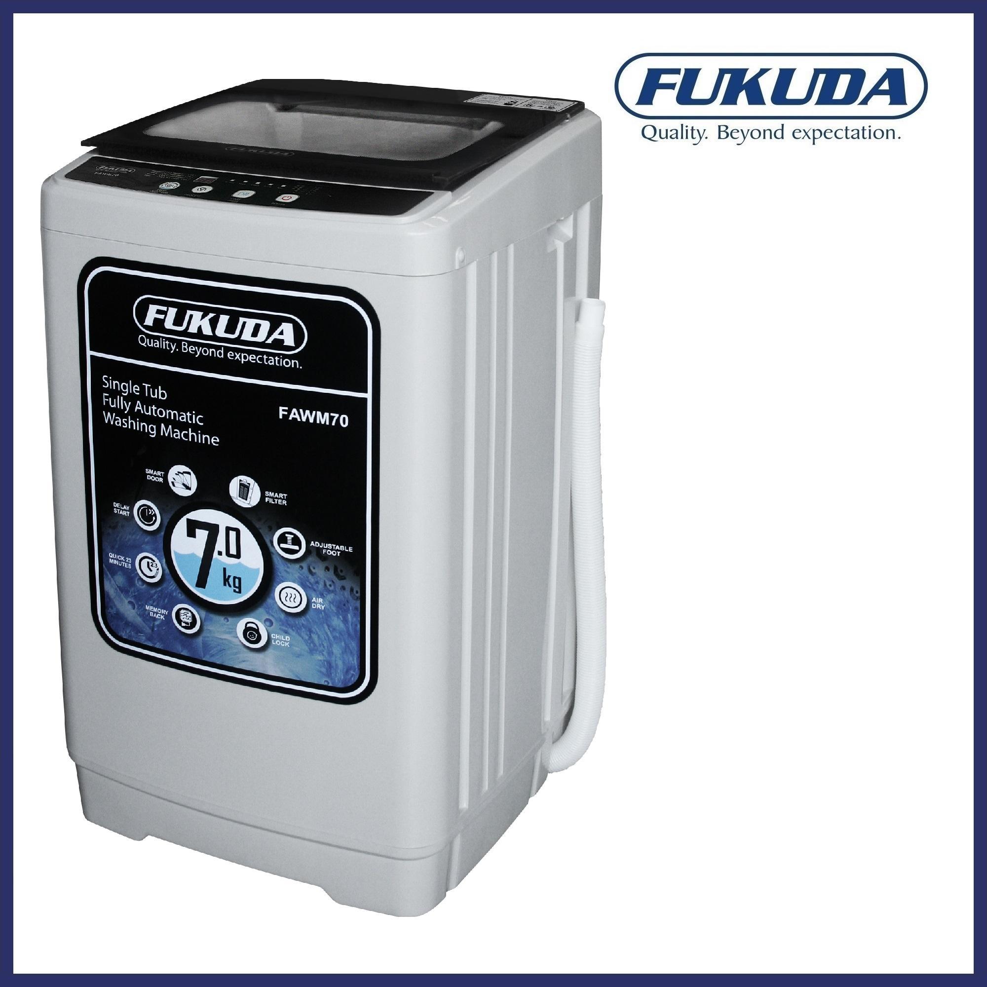 fukuda fawm70 7kg fully automatic washing machine (white)