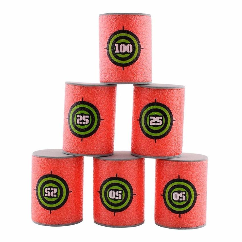 6pcs Eva Soft Bullet Target Foam Can Target Dart Foam For Nerf Gun Blasters By Ever Bright.
