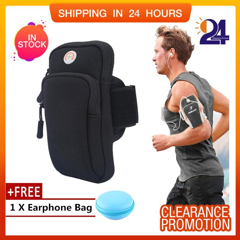 [Free Gift ]Outdoor Sport Running Jogging Exercise Gym Arm Wrist Pouch Armband Phone Case