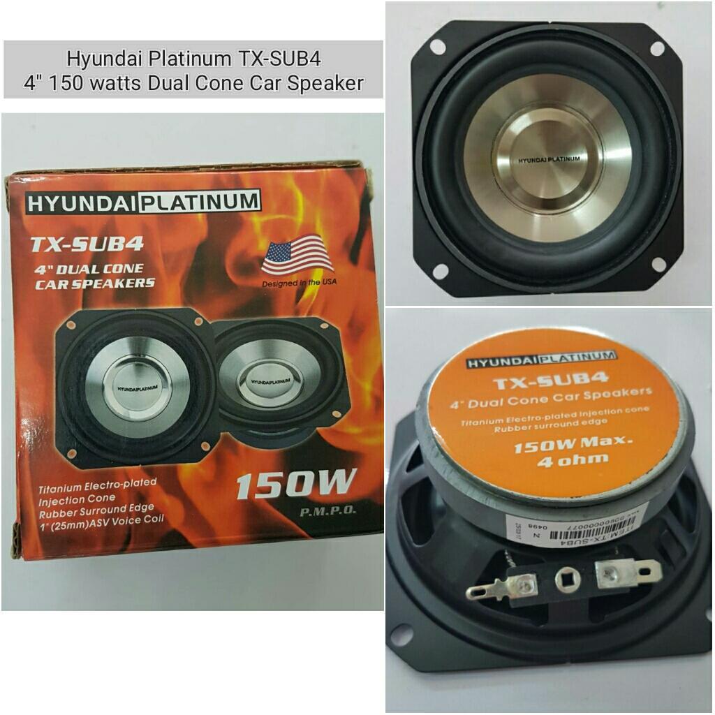 Car Speakers For Sale Speaker Cars Online Brands Prices Diagram And Parts List Nakamichi Audioequipmentparts Hyundai Platinum Tx Sub4 4 150 Watts Dual Cone 4ohms