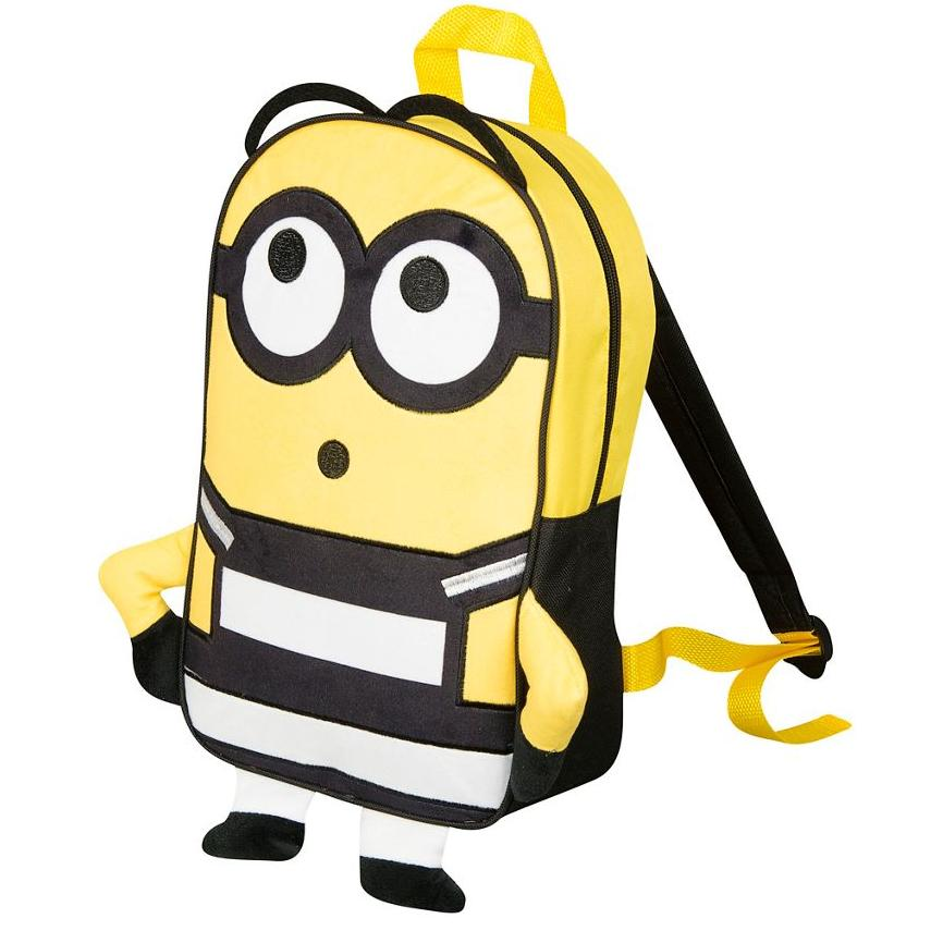 Deable Me 3 Prisoner Minions Embroidered Plush Front Backpack School Bag