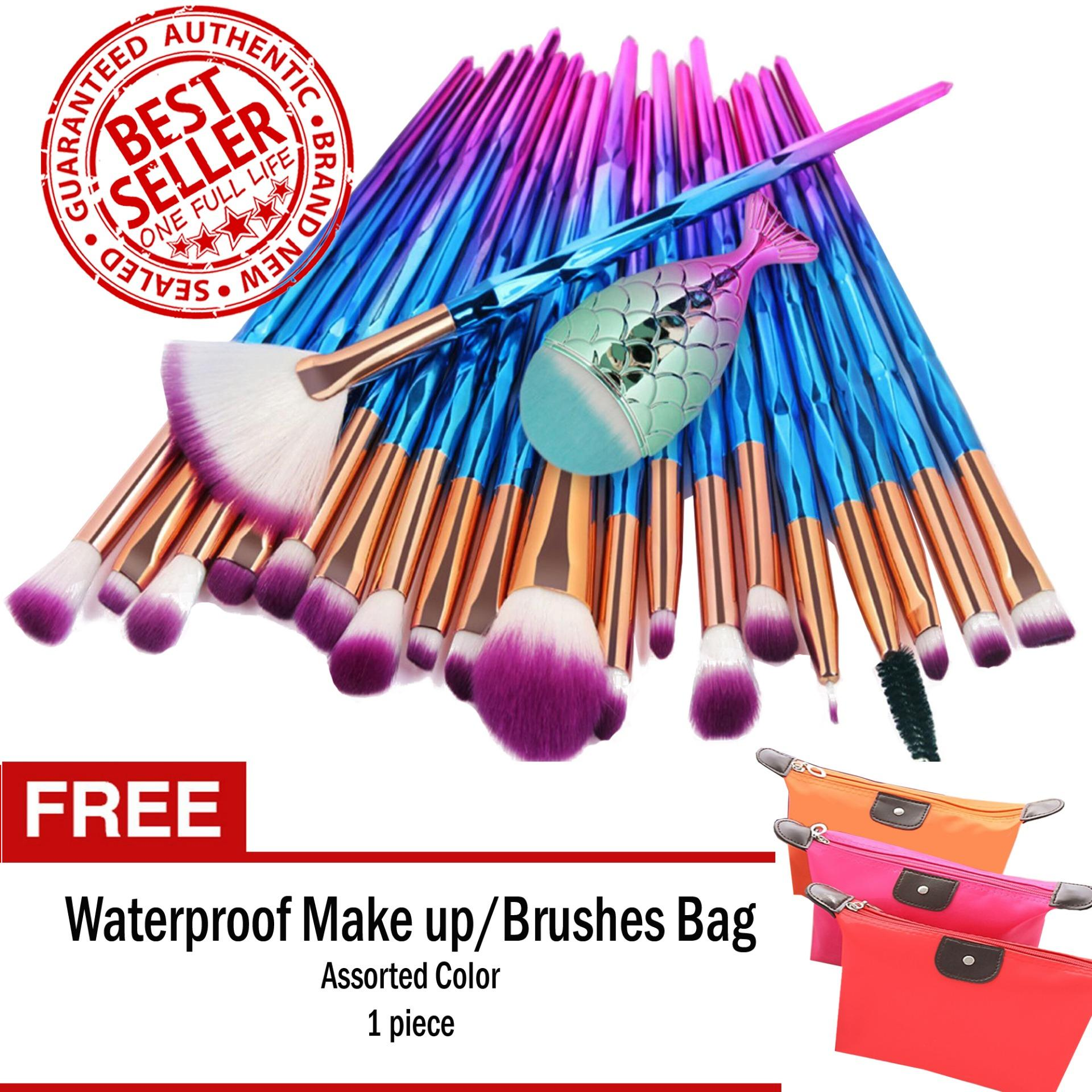 Unicorn Makeup Brush Set 21-Piece RAINBOW with with FREE Make Up Pouch Philippines