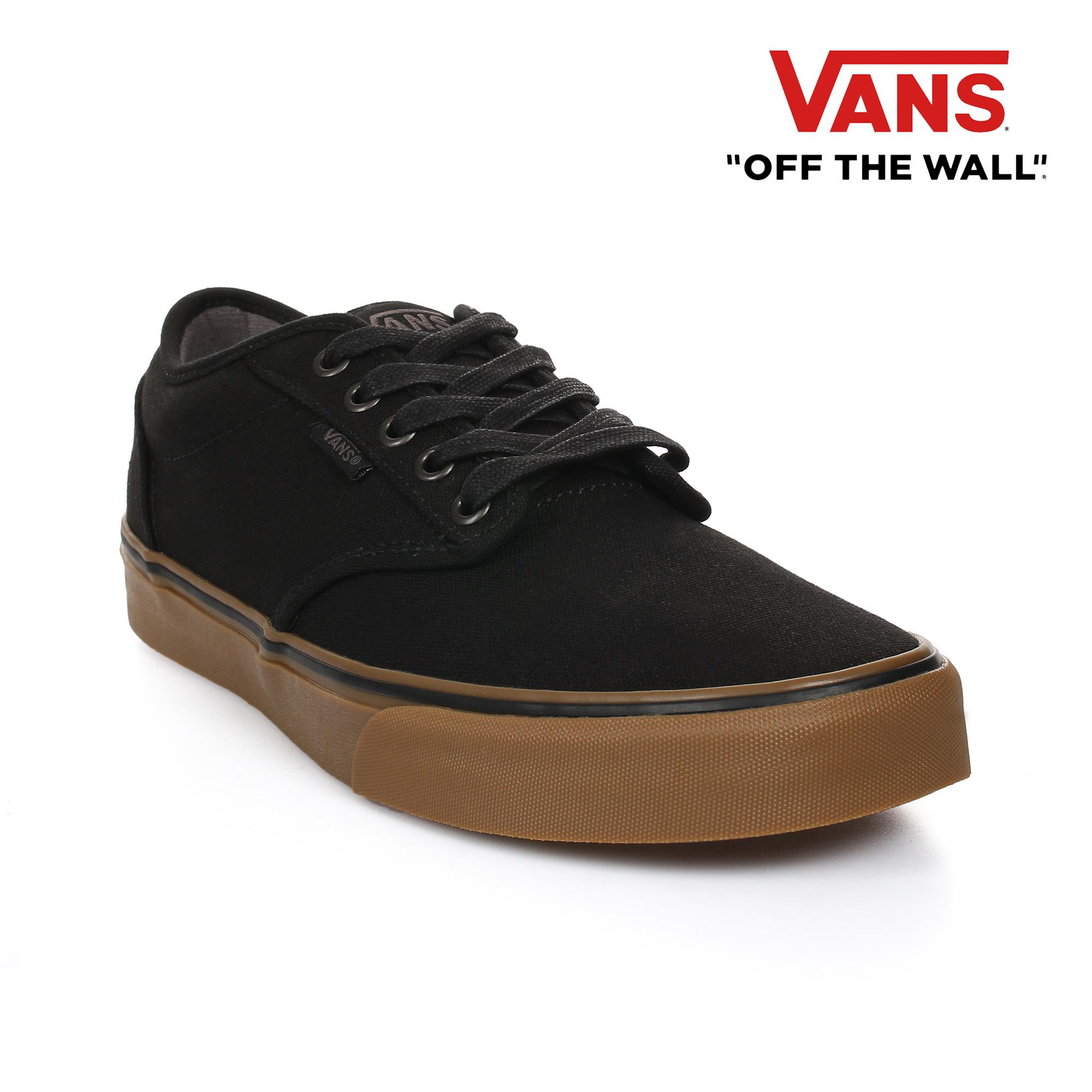 a53d2f10e4 Vans Men's Atwood 12oz Canvas Sneakers (Black / Gum)