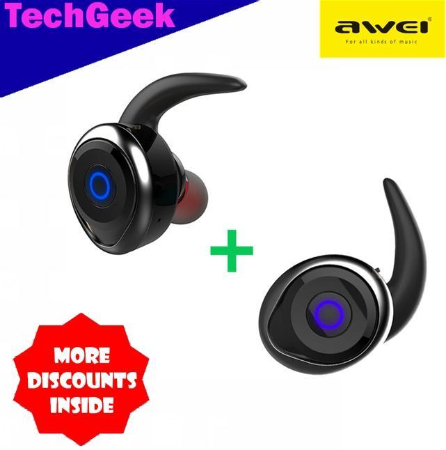 ed4e71c2682 TG Awei T1 True Wireless Waterproof Bluetooth 4.2 Stereo In-ear Sport  Earphone with Earhook