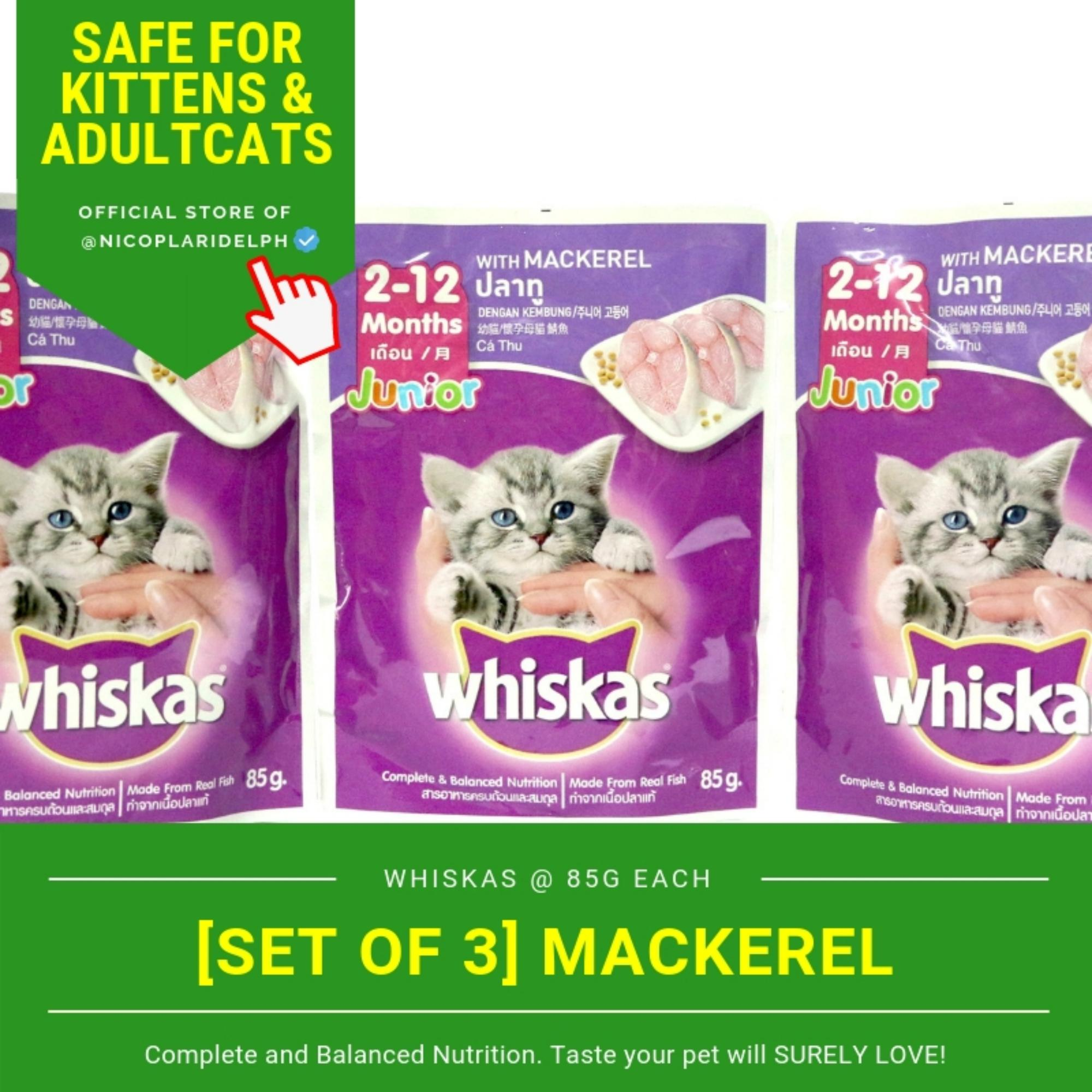 [SET OF 3] Whiskas Junior (Jr) Mackerel Pouch (85g)