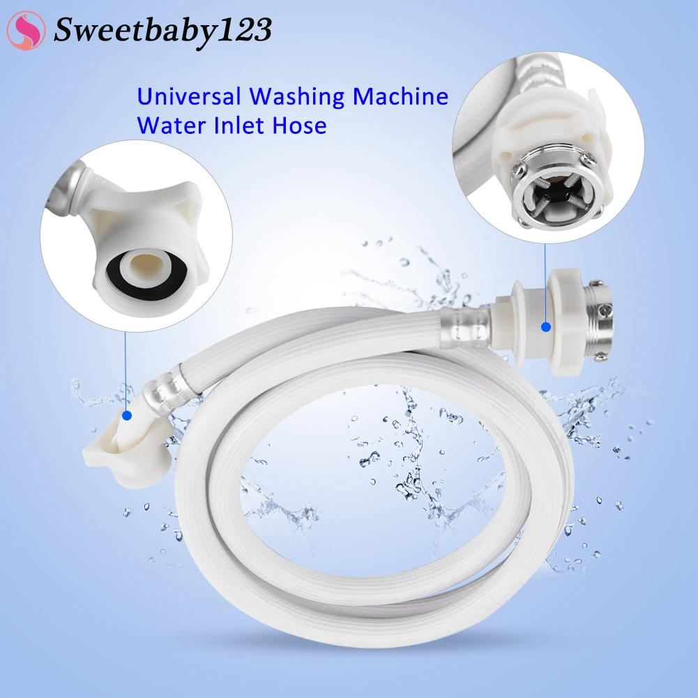 Universal Washing Machine Water Inlet Hose Washer Pipe Tube Connector White  Color Long Length 2m -