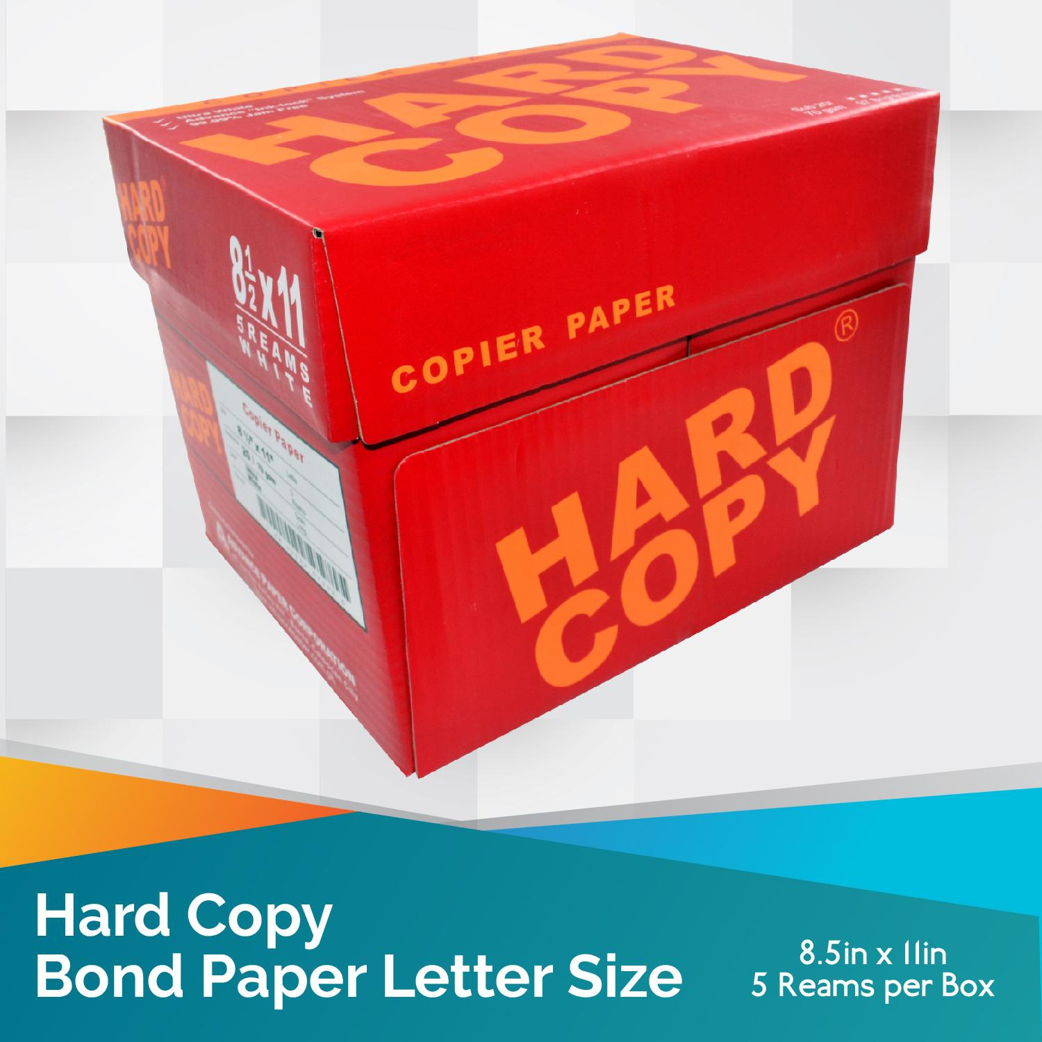 Hard Copy Bond Paper Short / Letter Size 1 Box By Yasenph.