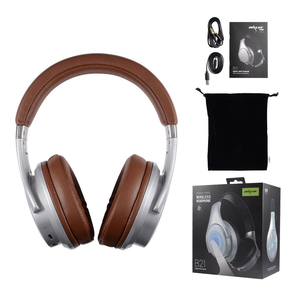 9d1ac8fadce ZEALOT B21 Deep Bass Portable Touch Control Bluetooth Over-ear Headphones  with Built-in