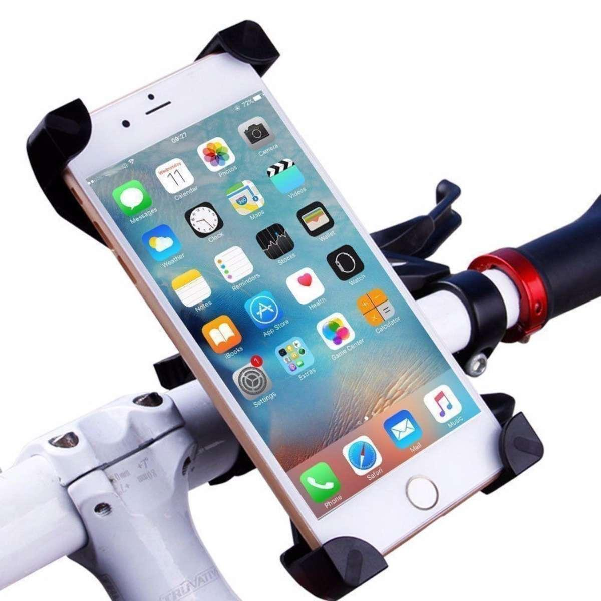 Bicycle Accessories Bicycle Rack Universal 360 Rotating Bicycle Phone Holder Motorcycle Handlebar Clip Stand Mount Smart Mobile Cellphone Bracket