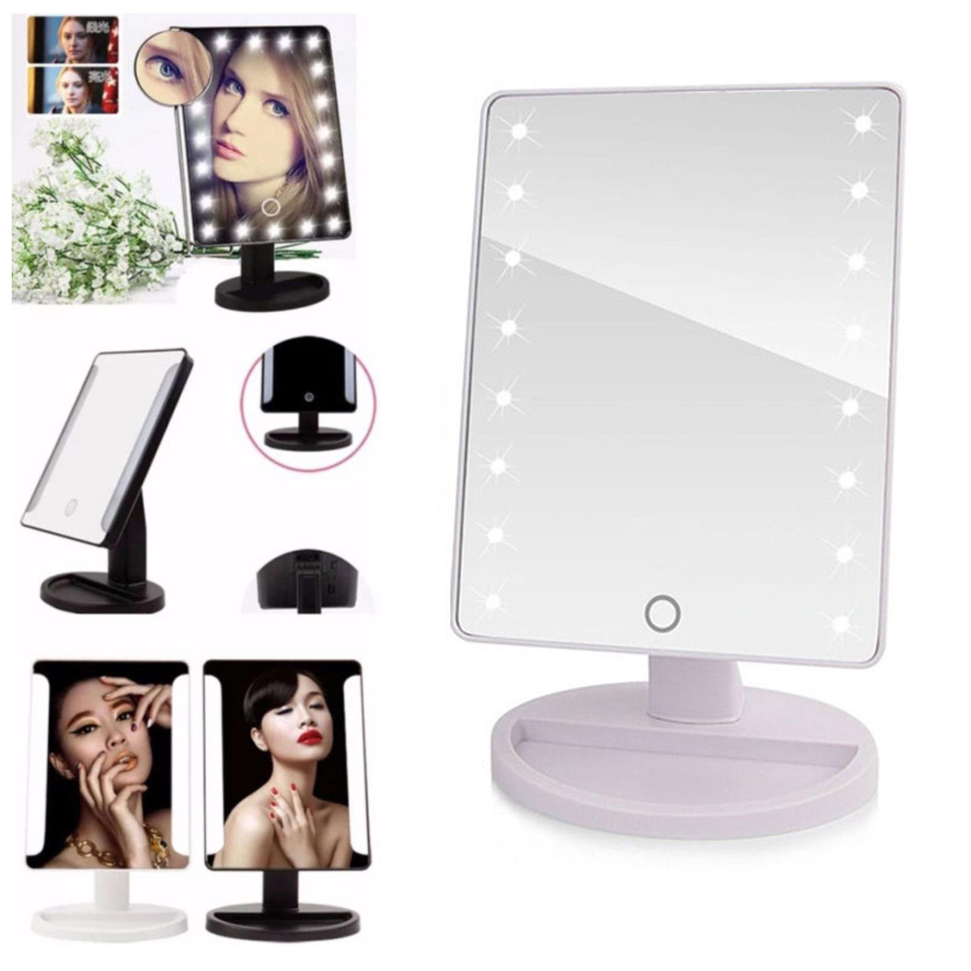 XR-1608 Make Up Vanity Illuminated Desktop Table Makeup Stand Large LED Mirror with 16 LED Light (White) Philippines
