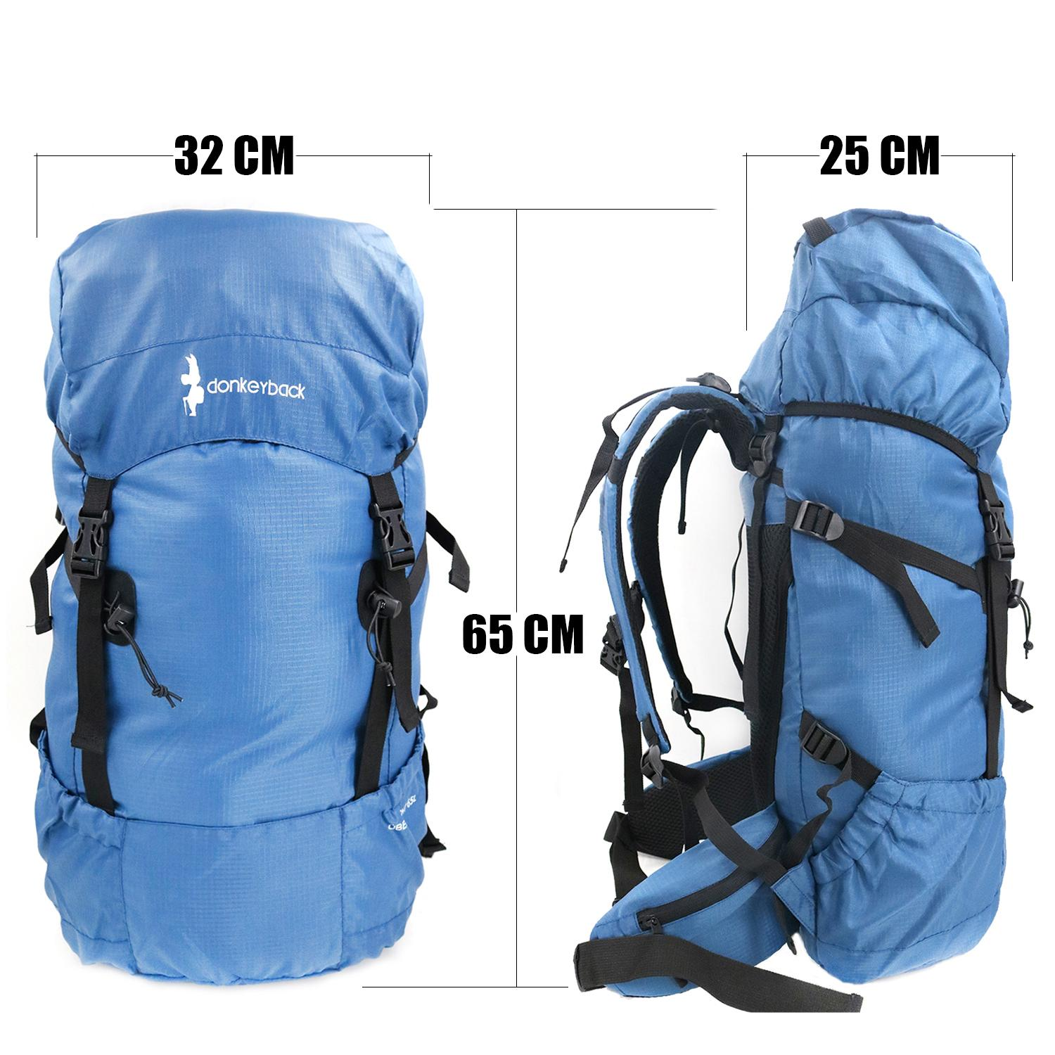cf298466bb05 Hodeso 65L DonkeyBack Hiking Backback Camping Bag Packable Durable Travel  Hiking Backpack Daypack
