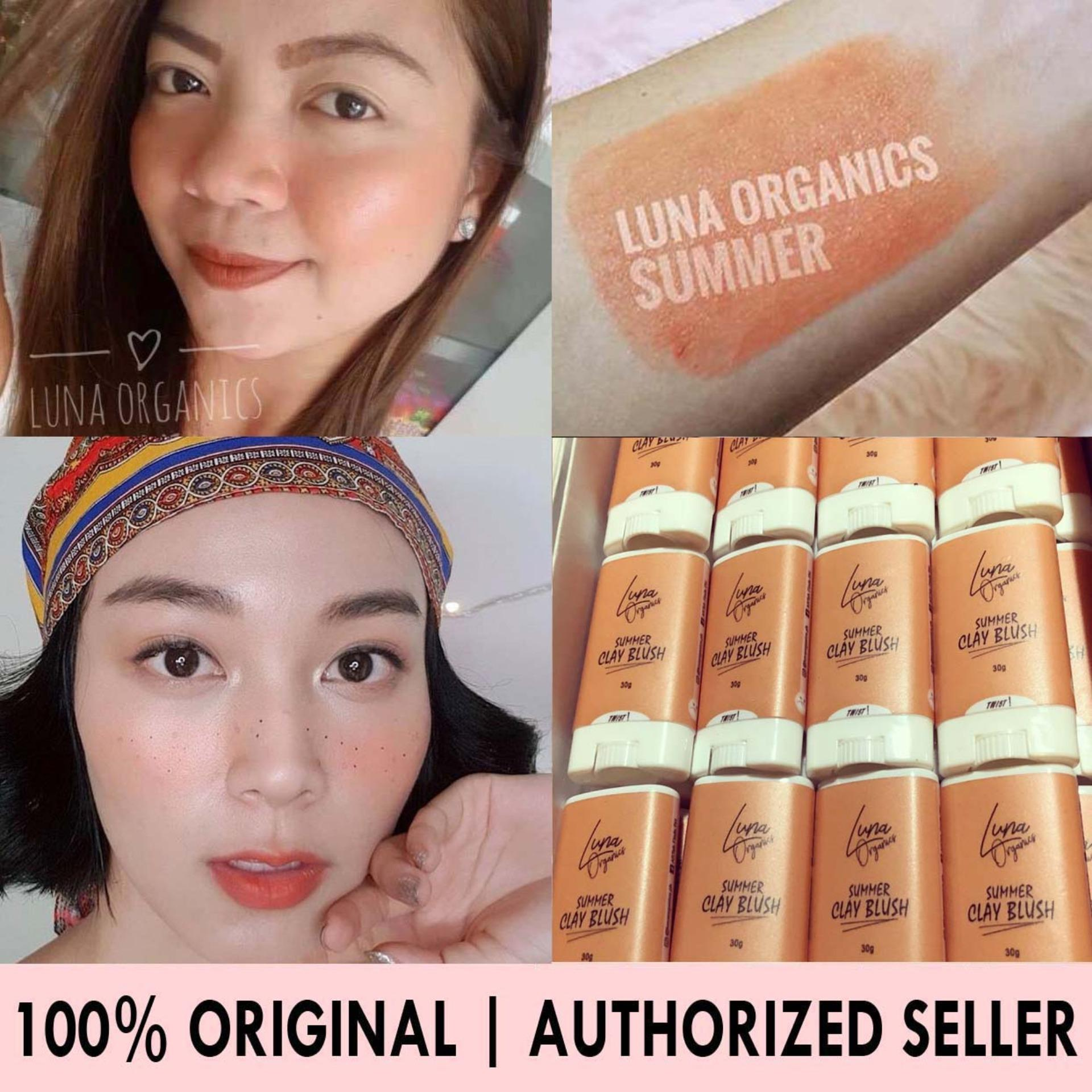 Authentic LUNA ORGANICS SUMMER Clay Blush Shade 100% Original (Exclusive Authorized Product Distributor Taguig Area) FDA Approved Vegan Korean Make Up Dewy Look Highly Pigmented 30grams Philippines