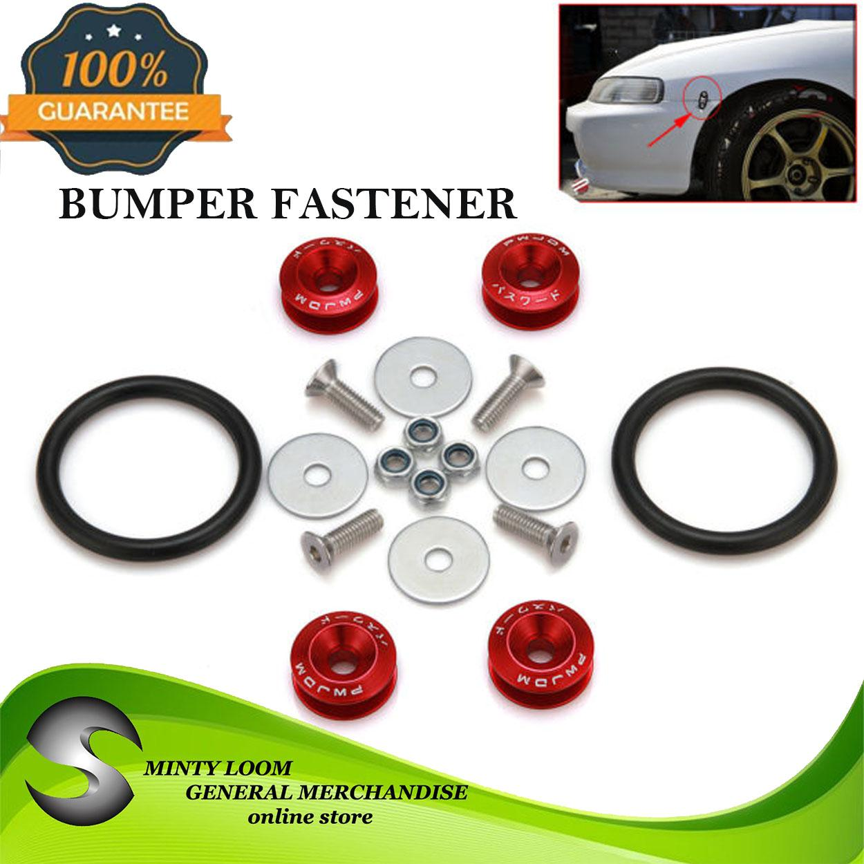 Jdm Password Bumper Fastener(red) By Minty Loom General Merchandise.