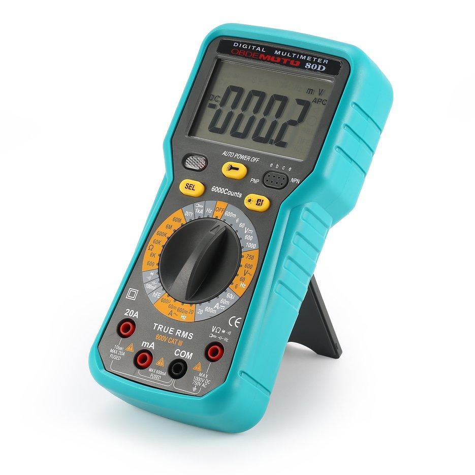 Autoranging Digital Multimeter 6000 Counts AC / DC Ammeter Voltmeter - intlPHP1280. PHP 1.293