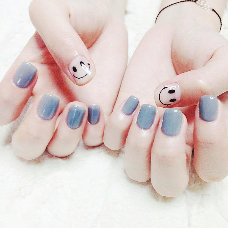 O-New 24pcs Full Cover Art Design Short Size Cute False Nail Tips Stickers Philippines