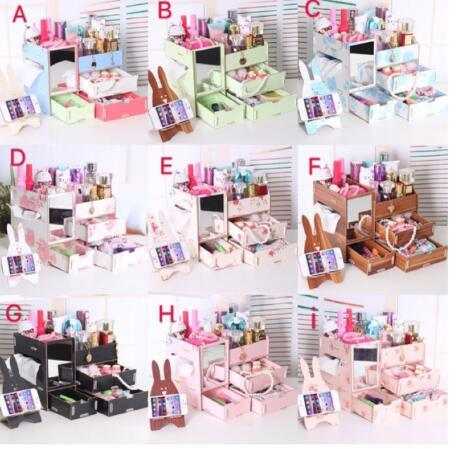 DIY Wooden Makeup make up Organizer with Mirror free CP Stand Philippines