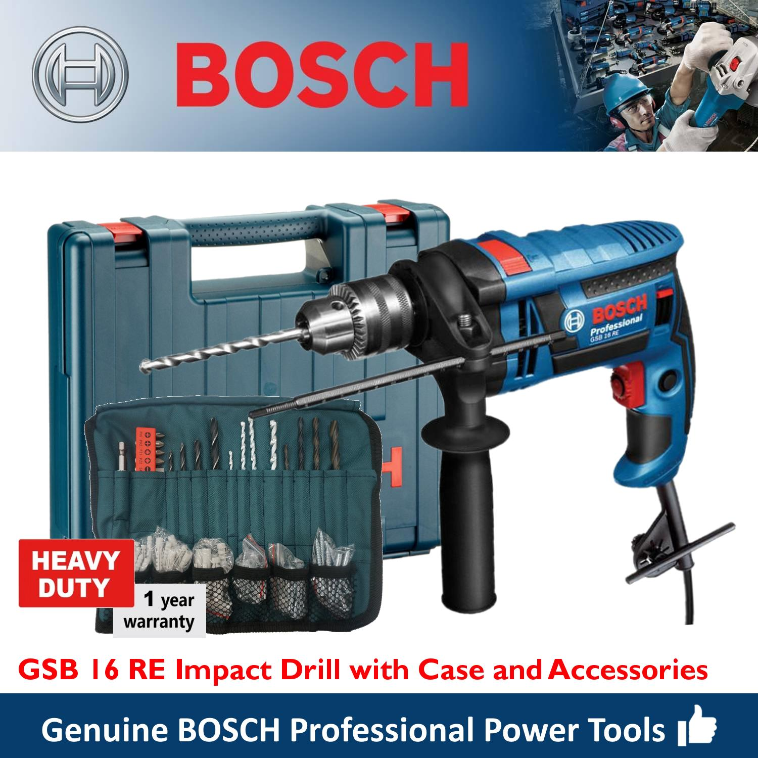 Bosch Philippines Drills For Sale Prices Reviews Lazada Bor Rotary Hammer Gbh 3 28 Dre Gsb 16 Re Impact Drill Heavy Duty Wrap Set With Accessories And Hard Case