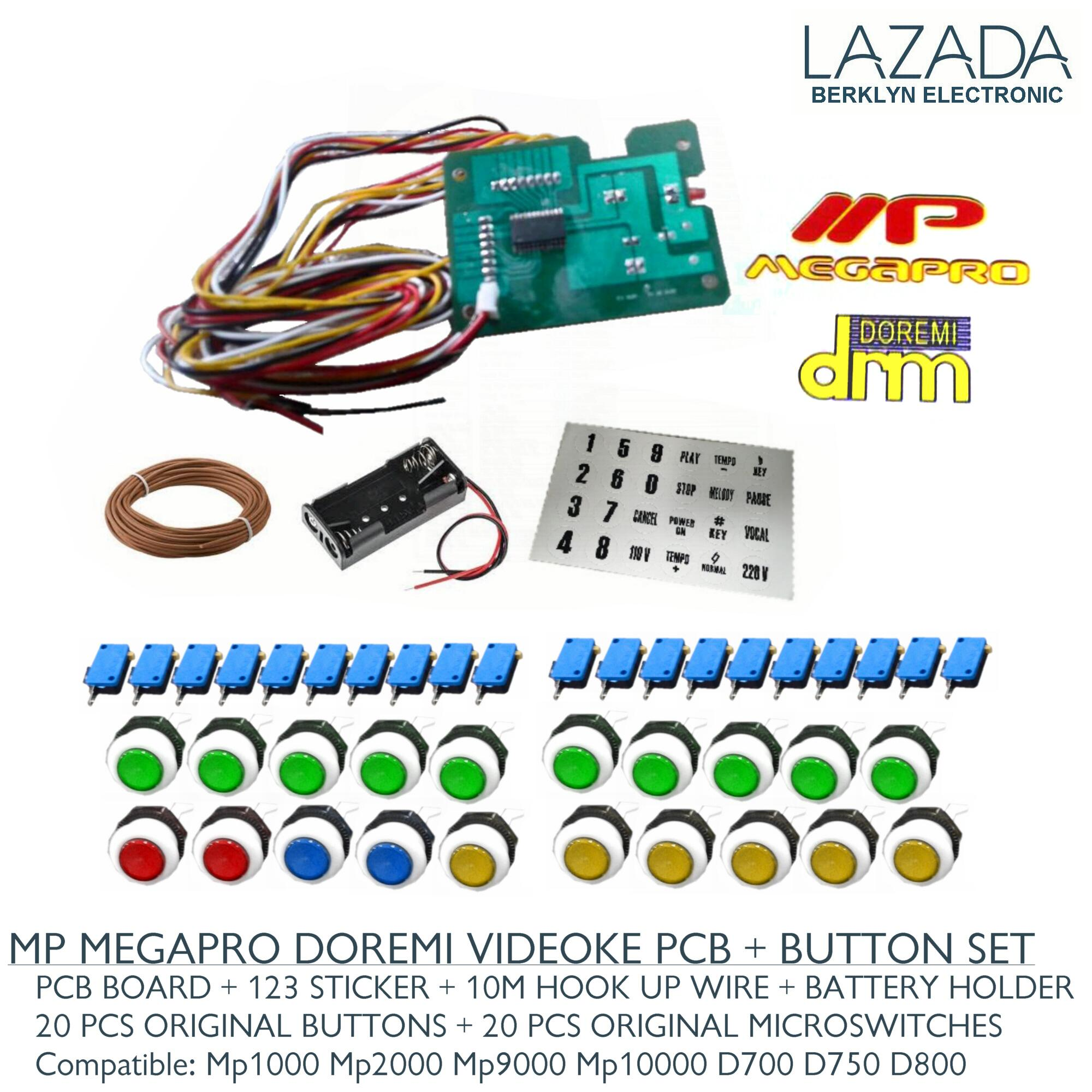 Pcb Remote Button Set For Videoke Machine Mp Megapro Doremi Wiring A Circuit Board Battery Holder Wire