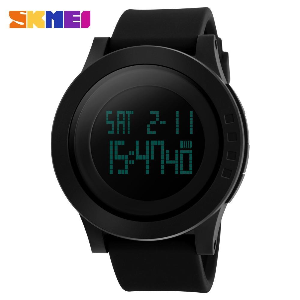 Skmei Silicone Strap Unisex Watch Dg1142 Black