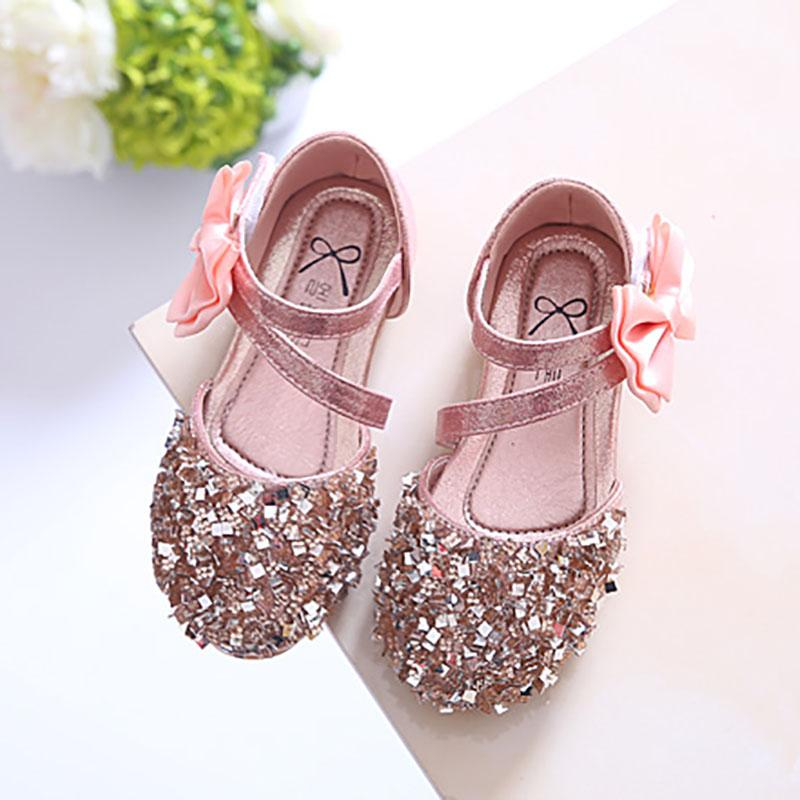 Girls Man-made Diamond Princess Shoes 2019 Spring And Summer New Style  Children Shoes Korean 9be89e761fb9