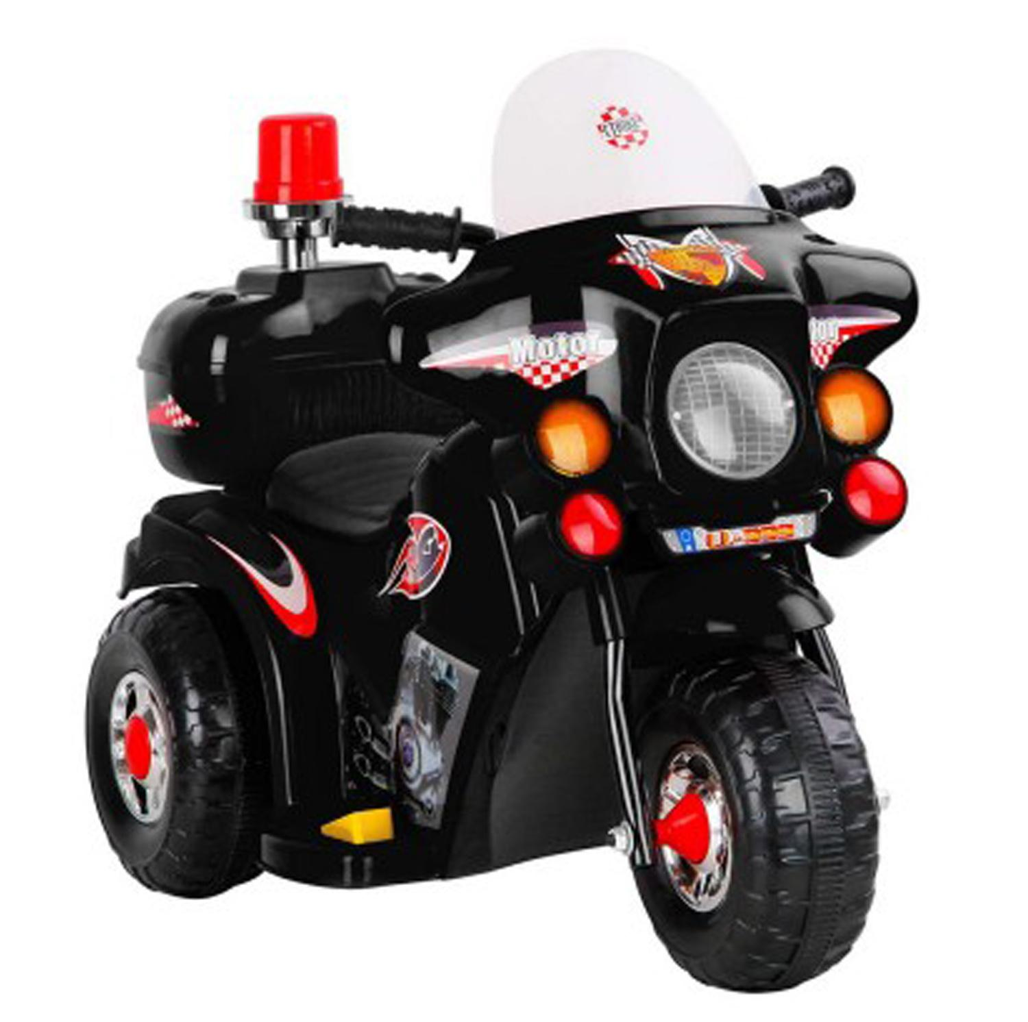 Rechargeable Motor Bike Kids Ride-On Toys Police Motorcycle By Hot-Wave.