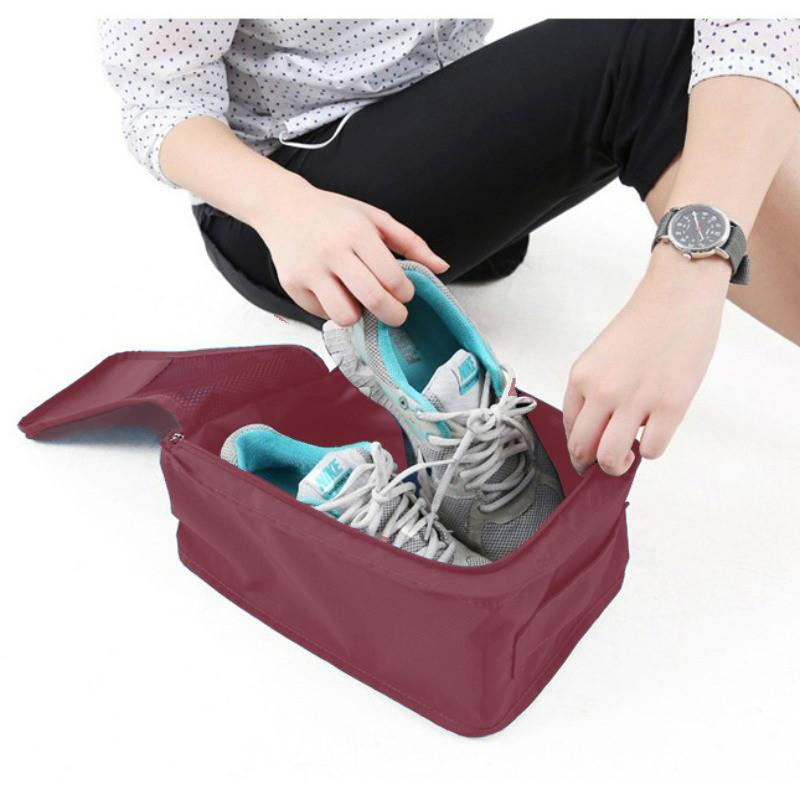 f20303dab203 Convenient Travel Storage Bag Nylon Bags for Shoes Travel Suitcase Shoes  Pouch Portable Waterproof Storage Bags Organizer (Color May Vary)
