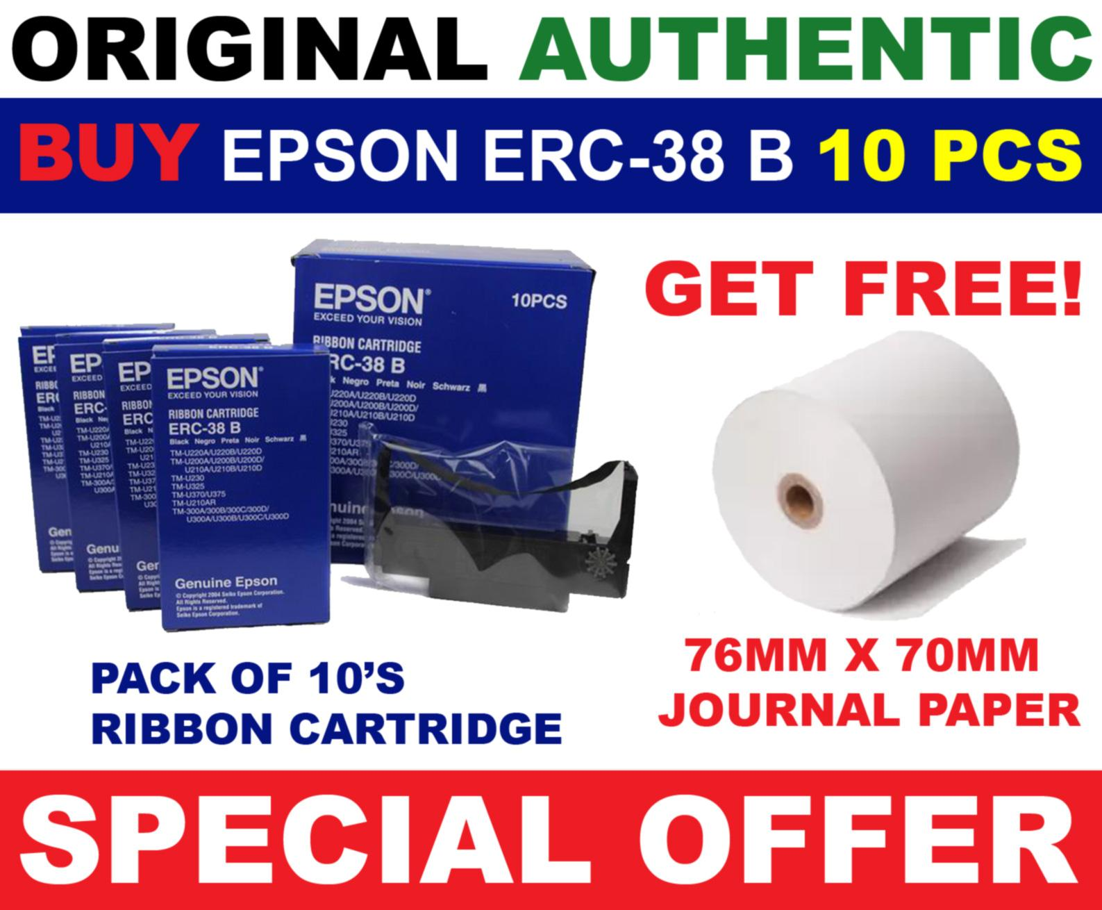 Epson Philippines Price List Printer Scanner Ink Print Head L120 L130 L220 L310 L360 L365 L380 L385 L455 L485 L565 New Original Erc 38 B Ribbon Cartridge 10 Pcs Authentic