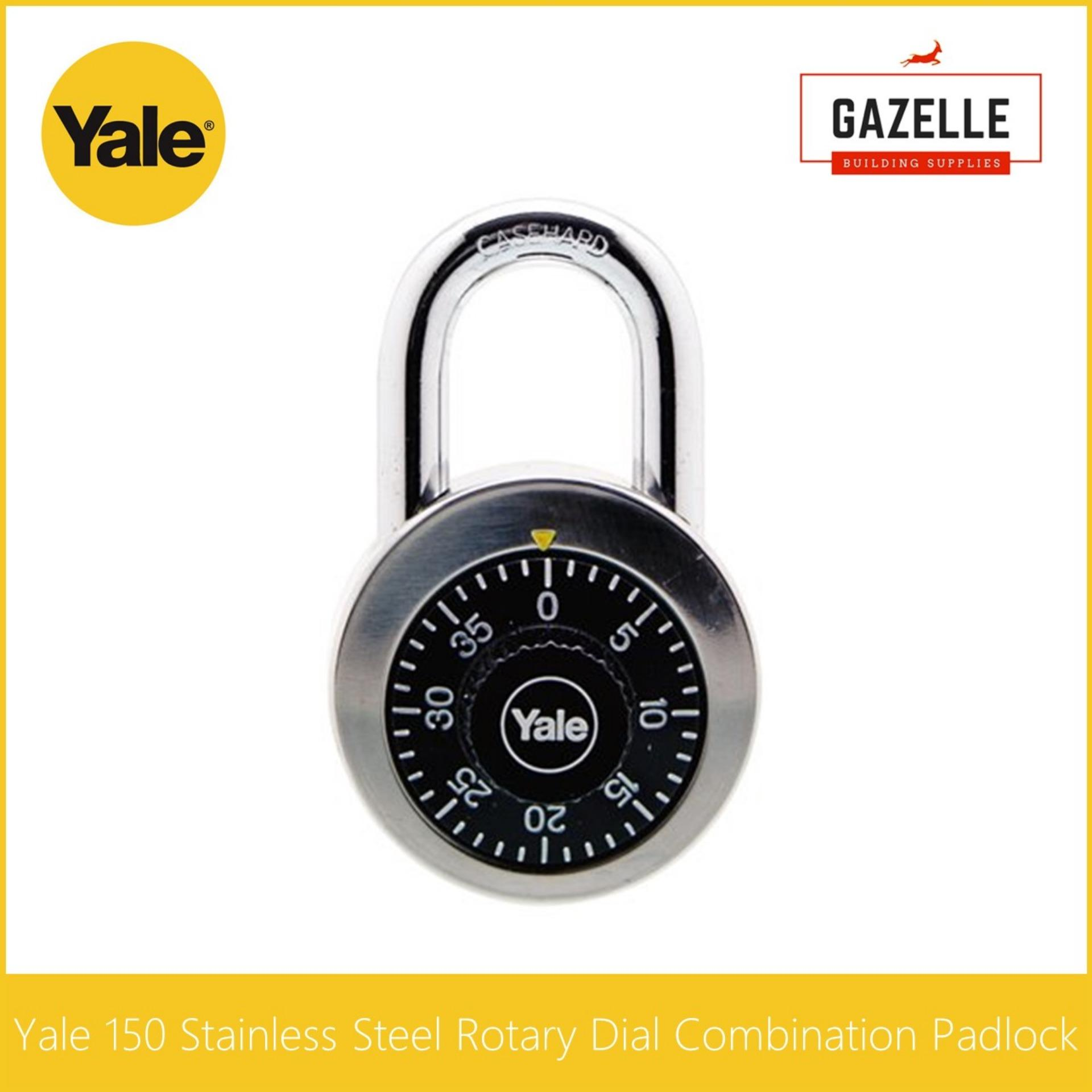 Yale 140 Stainless Steel Rotary Dial Combination Padlock