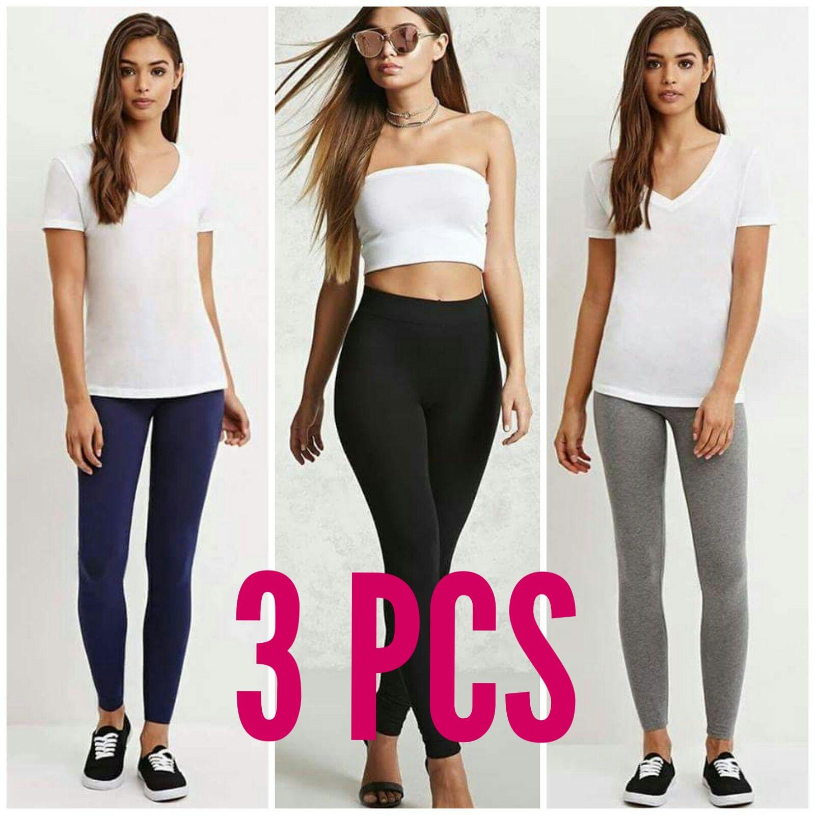 Womens Clothes For Sale Women Online Brands Prices Outfit Girl 10 Korea Set Of 3 Classic Cotton Leggings Overruns