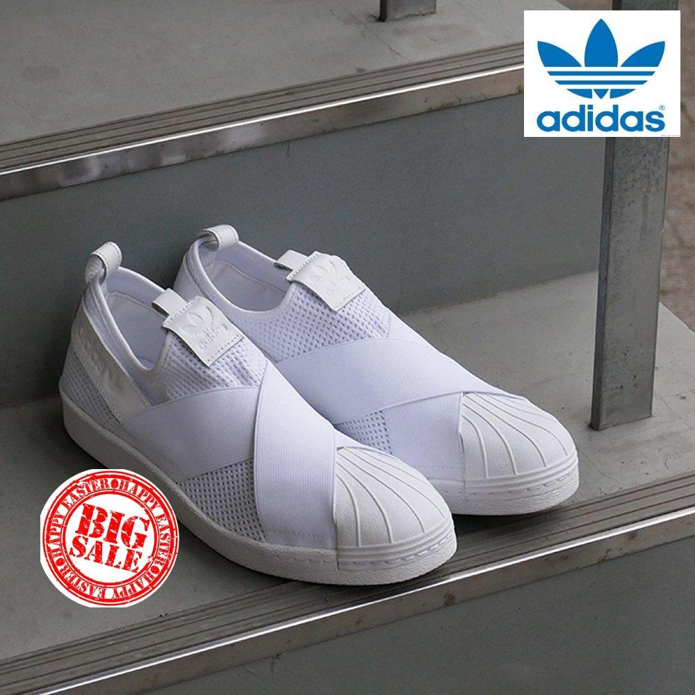 (Limited quantity Special SALE) Adidas Originals Superstar Slip on (WhiteWhite) BY2885 Shoes 100% Original