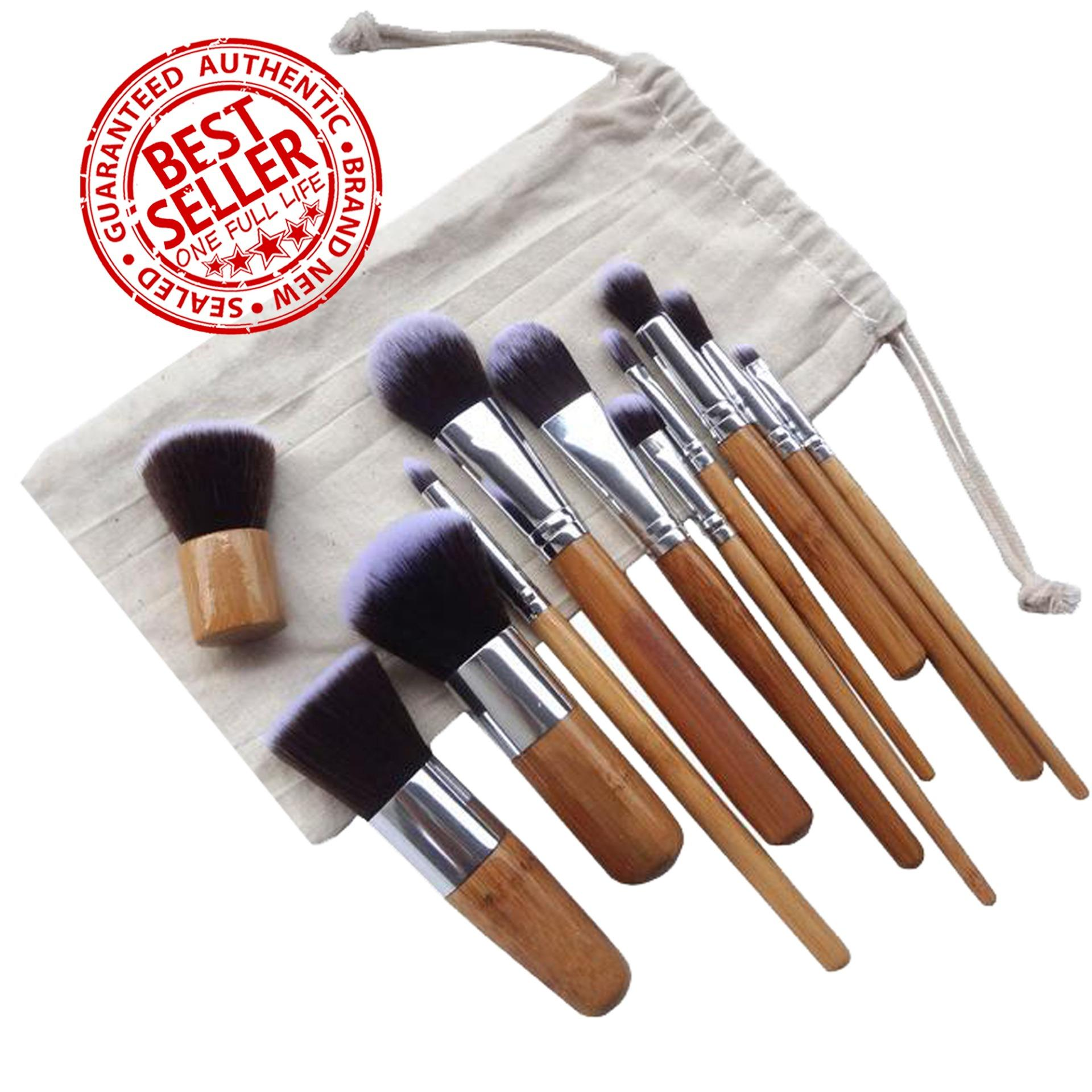 Professional Bamboo Make up Brush Set 11 Pieces with Pouch Philippines