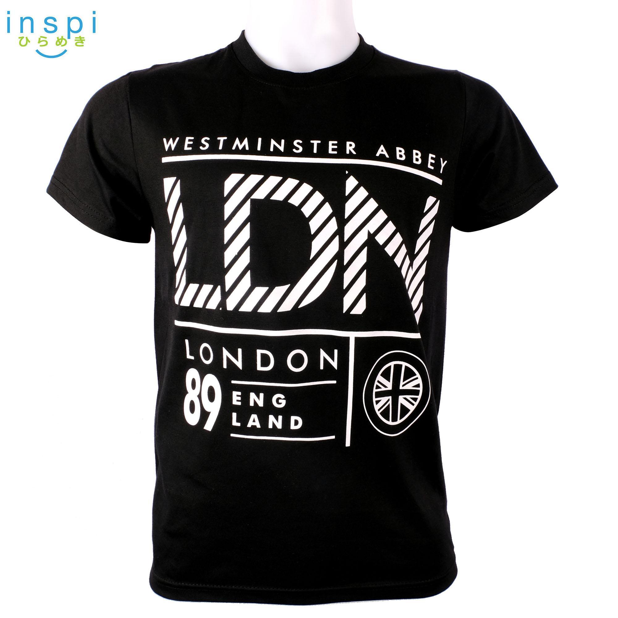f9779264f INSPI Style Mens LONDON west abbey (Black) tshirt printed graphic tee Mens t  shirt