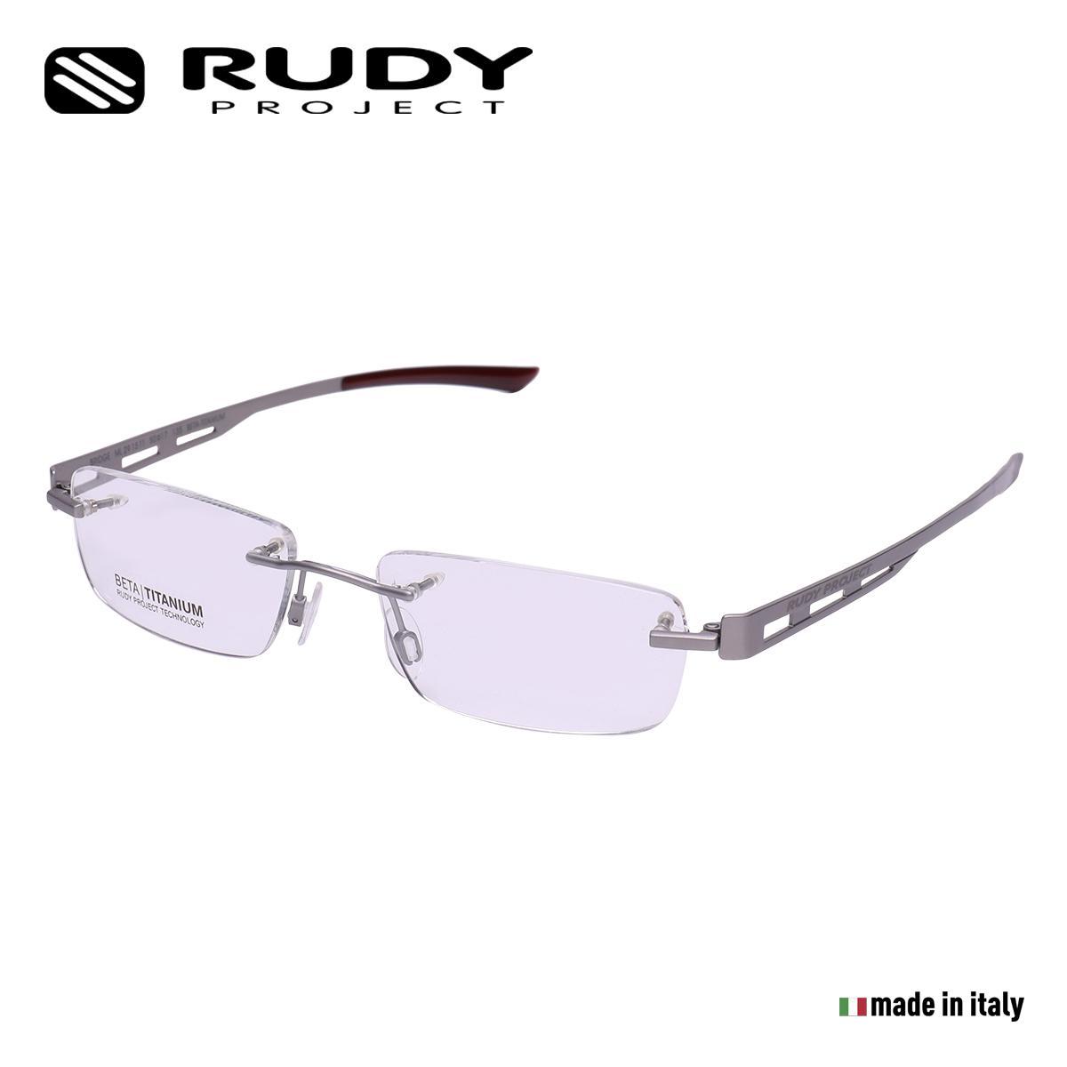 8219527de9 Rudy Project Bridge 27 Rimless Optical Eyewear in Titanium Palladium with  Demo Lenses ML2715T1 (Size