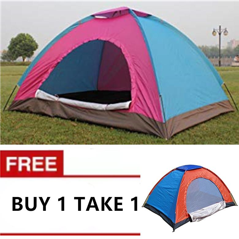 f67e810ab Cee8 BUY 1 TAKE 1 6 Person Waterproof Outdoor Dome Camping Family Hiking  Tent (Multicolor