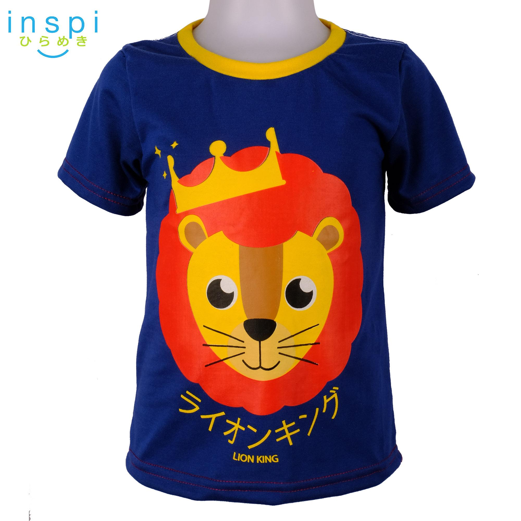 INSPI Kids Boys Lion Blue tshirt top tee t shirt for boys shirts clothing