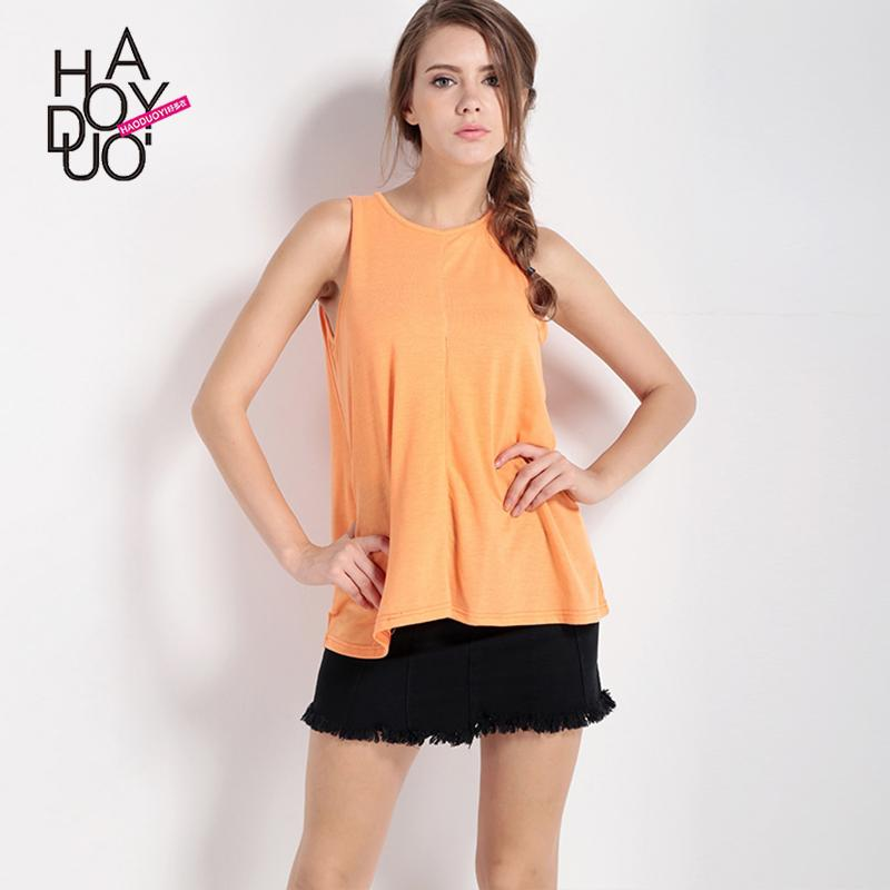 16e43d0e818 Haoduoyi 2019 Summer women dress for women New Style Europe And America  Fashion Simple Solid Color
