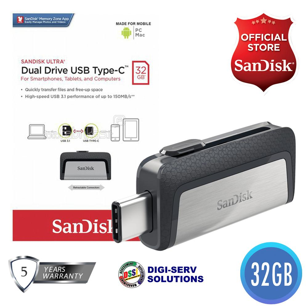 Usb Otg For Sale Drives Prices Brands Specs In Sandisk 3 Ultra Sdddc2 032g 32gb Dual Drive 31 Type C Reversible
