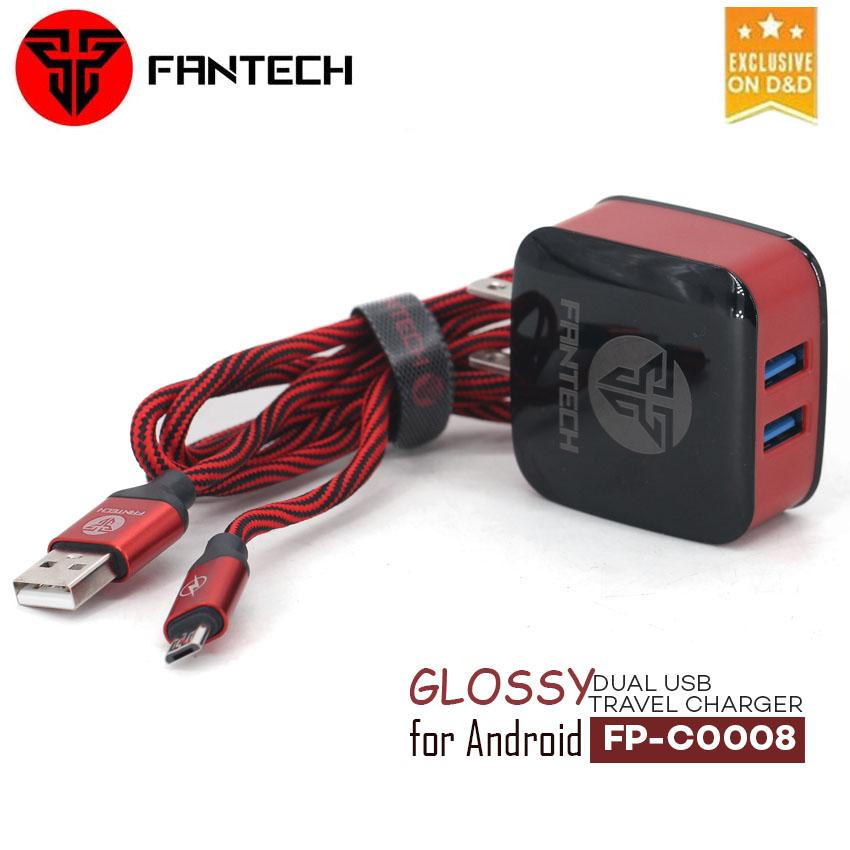 Fantech FP-C0008 V8 Dual USB 2.4A Fast Charger for Android (DC-