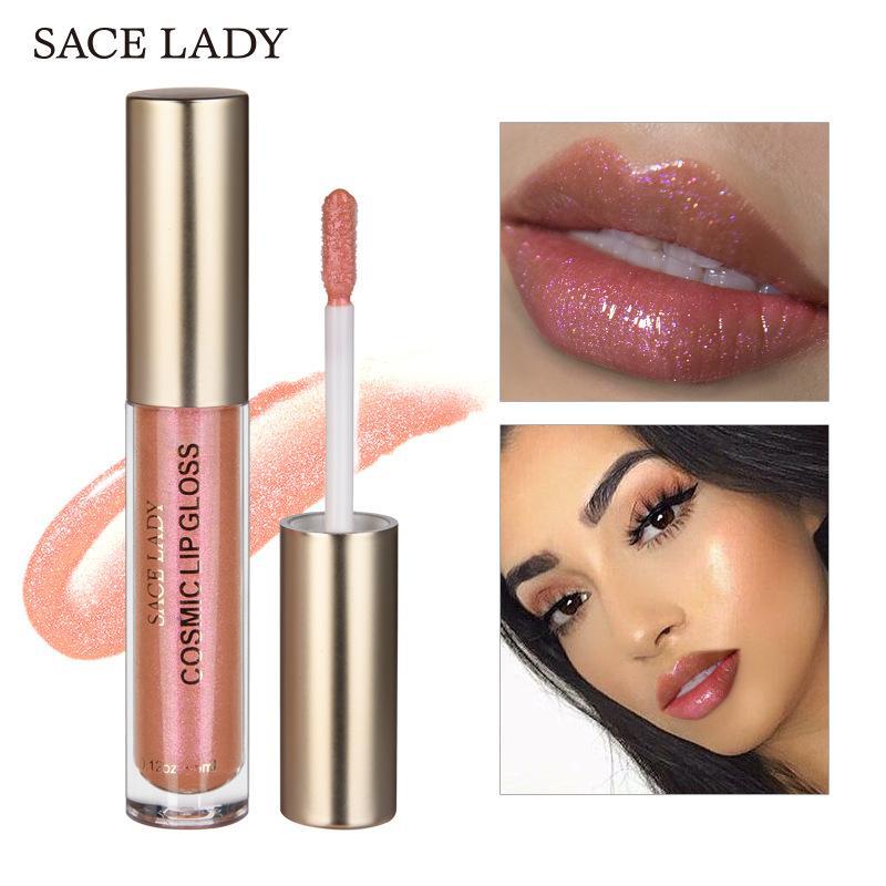 SACE LADY Glitter Lip Gloss Makeup Cosmic Gloss Shimmer Lipstick Tint Liquid Lipgloss Make Up Shine Paint Brand 3.5 ml Cosmetic Philippines