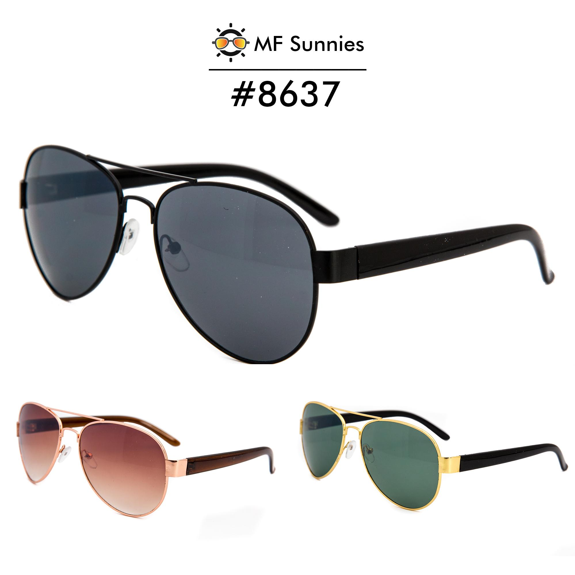 33e8d7befed7 MFSunnies Classic Aviator Sunglass Metal Frame Fashion Eyewear  8637