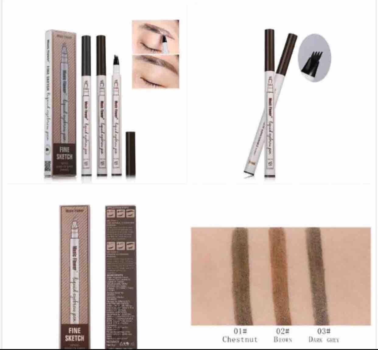 MUSIC FLOWER LIQUID EYEBROW PEN (Waterproof) Brown/Chesnut Philippines