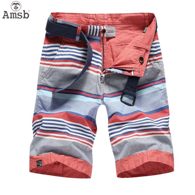 3decefdd602 Amsb® Men s Trendy Reversible Shorts Double Side Stripe Chino Shorts  Multiple Style Plus Size