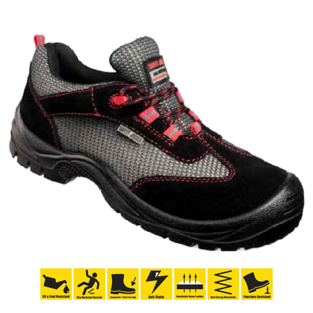 83dd671ea7d0b Safety Jogger Falcon Low Cut Steel Toe Safety Shoes Anti-Slip Oil & Fuel  Resistant