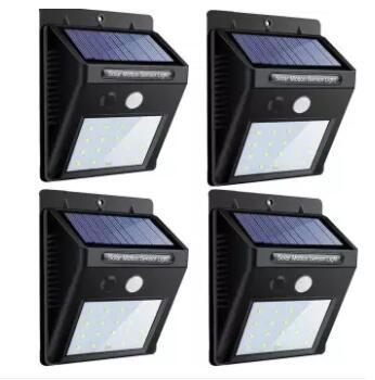 20 LED Solar Lights Outdoor,Waterproof Solar Motion Sensor Light Wireless  Lights Outside Wall Lamp for Driveway Patio Garden Path